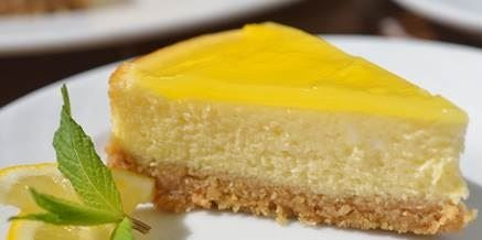 cheesecake al limone cotta