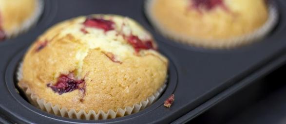 preparare i muffin frutti bosco